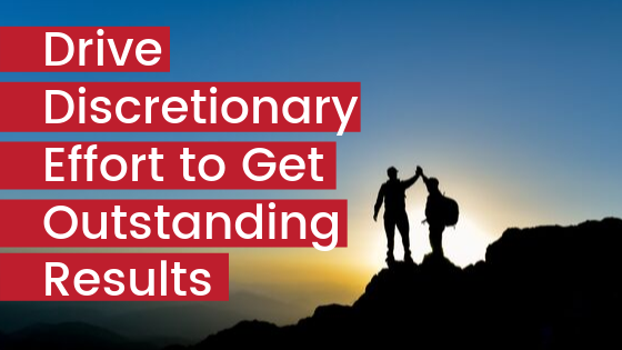High five on top of mountain peak - Drive discretionary energy to get outstanding results